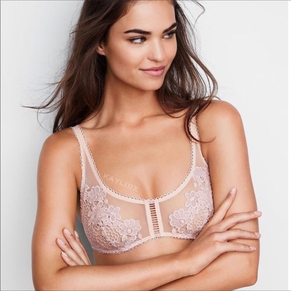 d8d7f722b7 VS Dream Angels floral appliqué crochet bralette
